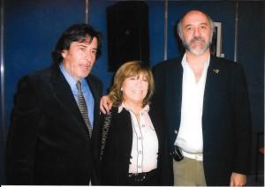 Con Edgardo Miller y Fanny Mandelbaum