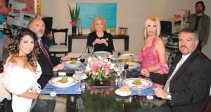 Con Mirta Legrand Cinthia Fernandez Anabel Azcar y Eduardo Marr