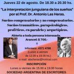 Taller intensivo:   «La interpretación junguiana de los sueños». por el Prof. Dr. Antonio Las Heras.